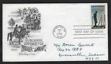 US FDC #1182 Artmaster M-5 1965 Appomattox VA Appomattox Surrender Civil War