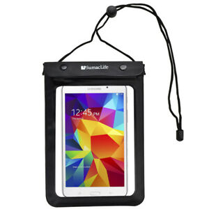 """Black Tablet Waterproof Pouch Dry Bag Case Cover For 8.4"""" Samsung Galaxy Tab A"""