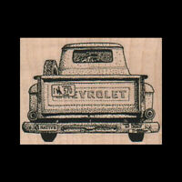 CHEVY PICKUP TRUCK RUBBER STAMP Old Truck Rubber Stamp - Red Rubber CHEVROLET