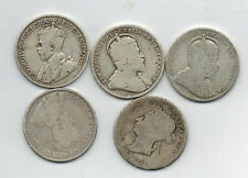 Canada 25 Cents Quarter Lot  1900 1909 1910 1914 1919  Victoria George V Edward