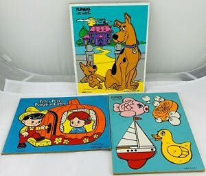 1970's Playskool Puzzles Scooby-Doo Complete in Good Condition FREE SHIP