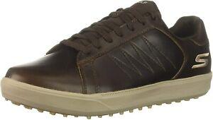 Skechers Men's Drive 4 Lx Waterproof Golf Shoe Comfort Athletic Leather