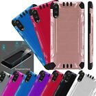 For VERIZON TCL SIGNA Combat Case Phone Cover + TEMPERED GLASS Screen Protector