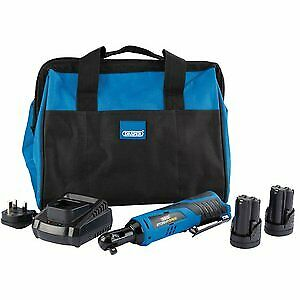Draper 10.8V Power Reversible Ratchet Kit 2x 1.5Ah Battery Charger + Bag