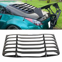 For 03-08 04 05 06 07 Nissan 350Z Matte Black Rear Windshield Louvers Cover ABS