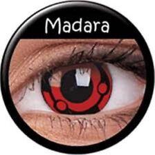 Crazy Contact Lenses Lentilles Kontaktlinsen Fun Halloween Red Madara Naruto Eye