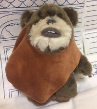 """Disney Parks Exclusive Star Wars Movie Ewok Wicket Warwick Plush 9"""" Doll Toy BW"""