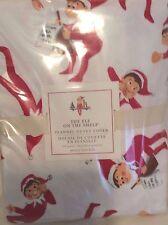 Pottery Barn Kids The Elf on the Shelf  F/Q Flannel Duvet Cover  Christmas