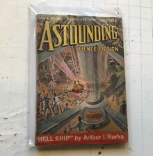 Astounding Stories Vintage Science Fiction Aug 1938 Hell Ship aug THE THING !