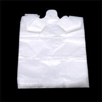 100pcs Plastic Transparent Bags Shopping Trash Bag Supermarket Handle Bags S