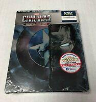Captain America: Civil War Blu-Ray 3D & Blu-Ray Steelbook NEW IMPERFECTIONS