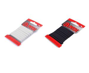 Wäschegummi 5m schwarz, weiß 5 / 7 mm