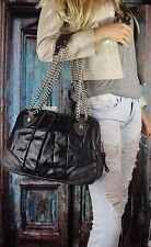 NWT MARC JACOBS Quilted & Pleated Bowler Calf Leather Shoulder Bag Dark Grey