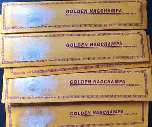 Golden Nagchampa Incense Sticks,Handmade Aromatic,Tibetan,Prayer,Meditation