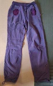 E9 Women's Pulce Climbing Trousers/Pants Stretch Cotton Purple/Lilac Medium VGC