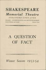 Stratford-upon-Avon 'A Question of Fact' 1953  Browne, Scofield, Cooper   JX2960