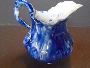 FLOWING BLUE SPONGEWARE CREAM PITCHER