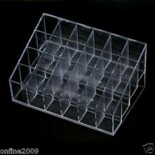 24 Stand Shelf Trapezoid Clear Lipstick Lotion Makeup Cosmetic Shelf Wholesale
