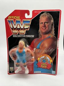 WWF WWE MR PERFECT Wrestling Figure Series 3 1992 Hasbro MOC US Version Red Card