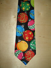 Fratelli Christmas Ornament Tie Black Multi-Color 55L 3-3/4W Really Nice T-3