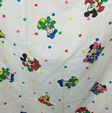 Vtg Disney Curtain Panel Mickey Minnie Mouse and Friends Dundee Dots Baby