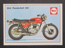 Vignette BSA THUNDERBOLT 650 PANINI Super Moto n°37 Sticker Aufkleber 1975
