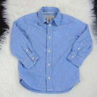 H&M LOGG Toddler's Button Down-Shirt Chambray Long-Sleeves Top Blue Size 2-3y