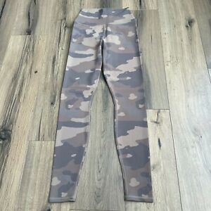Alo Yoga High Waist Small Vapor Legging Beige Camouflage Camo Print EUC