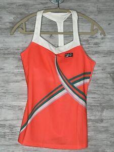 FILA Tank Top Size XS Womens Orange White Marion Bartoli Athletic Tennis