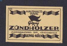 Ancienne étiquette allumettes Allemagne BN54802 Publicité Drapeau