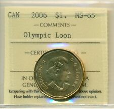 2006 Canada Loon Dollar ICCS MS-65 Olympic Loon