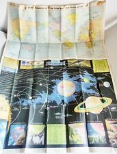 Vintage Sears Map Of Outer Space 1958