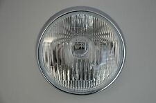 """7.5"""" Chrome Steel Motorcycle Motorbike Headlight 55/60w For Project Cafe Racer"""