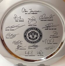 Manchester United The Champions Of Europe 2008 Salver Squad Signatures Engraved