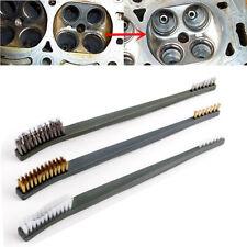 3X Wire Brush Set Steel Brass Nylon Cleaning Polishing Detail Metal Rust Brush
