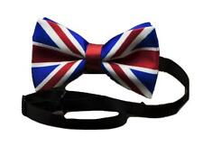 Silky Satin Luxury Adjustable Union Jack Flag Bow Tie Classic Tuxedo Party UK