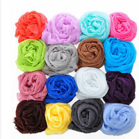 Expected Candy Color Girl  Long Soft Silk Chiffon Scarf Wrap Shawl Scarve J&C