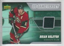 2006-07 UD SERIES 1 BRIAN ROLSTON GAME USED JERSEY J-BR GREEN Upper Deck Wild