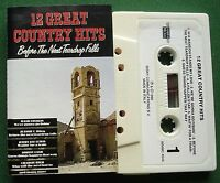 12 Great Country Hits Hank Locklin Charlie Rich + Cassette Tape - TESTED