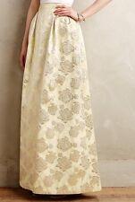 $325 Anthropologie Gilded Rose Jacquard Maxi Skirt Sz 2 Erin Fetherston