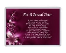 Personalised Special Sister Fridge Magnet Birthday Present Christmas Gift Xmas