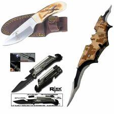 [Q=3] Bone Collector Skinning Knife + Tactical Led Pocket Knife + Batman Knife