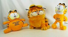 Lot of 3 Garfield the Cat Plush Stuffed Animals