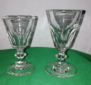 Two mid 19th Century dram glasses. (448)