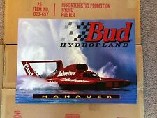 Miss Budweiser Chip Hanauer Hydroplane Poster NOS! Bud Boat Racing 1995 Vintage