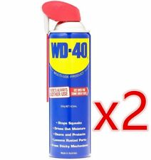 2 x WD-40 Lubricant Multi Use Product with Smart Straw, cleans, lubricates 375g