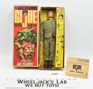 "Talking GI Joe Action Soldier Figure w Box 12"" 1967 Hasbro Vintage #7590"
