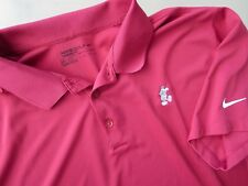 Nike Golf Dri Fit Polo Shirt Mens Size 2XL Disney Mickey Mouse RED Polyester