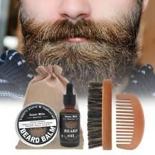 Mens Grooming Beard Set Moustache Balm Wax & Beard Oil & Beard Comb& Beard