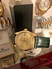 Vintage 1971 Rolex 14k oro fecha 1503 completamente reparado Muy Coleccionable